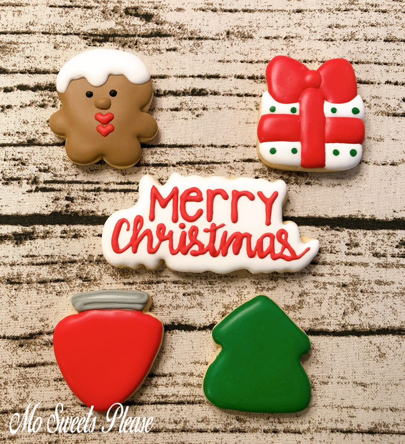Decorated Sugar Cookie Christmas Gift Box