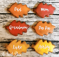 Decorated Sugar Cookie Thanksgiving Place Card