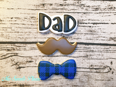 Father's Day - Dad, Mustache and Bow Tie