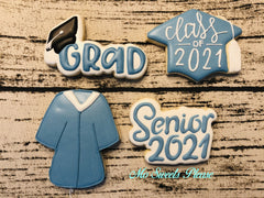 Graduation Senior 2021, Cap with Class of 2021, Graduation Gown and Grad