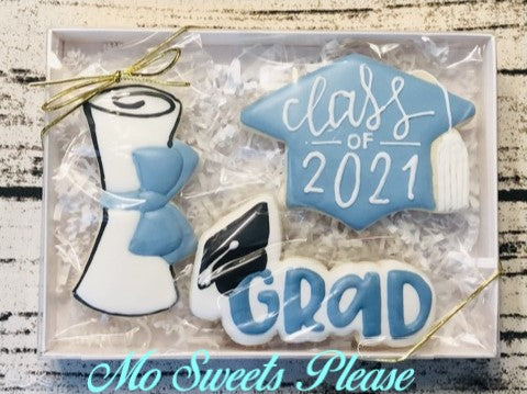 Graduation Cap with Class of 2021, Diploma and Grad Boxed Set