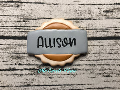 Pumpkin Pie Placecard Cookie