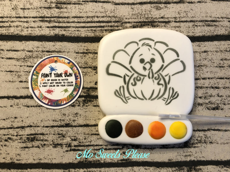 Thanksgiving Turkey Pumpkin Paint Your Own (PYO)