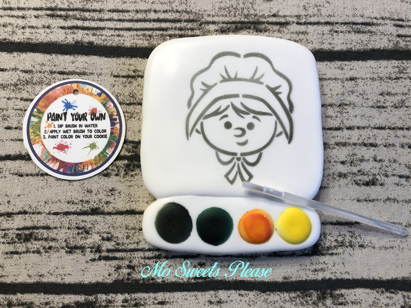 Thanksgiving Pilgrim Girl Paint Your Own (PYO)