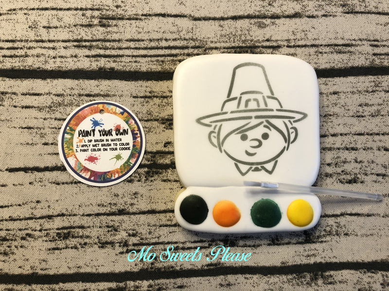 Thanksgiving Pilgrim Boy Paint Your Own (PYO)