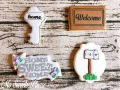 New Home Realtor Real Estate Decorated Sugar Cookie