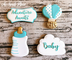 Decorated Sugar Cookie Hot Air Balloon Adventure Awaits