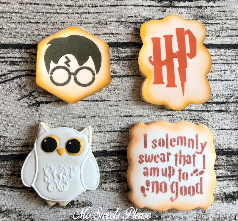 Harry Potter Muggle Owl Decorated Sugar Cookie
