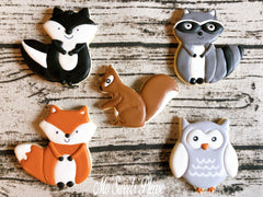 Decorated Sugar Cookies Woodlands Fox Owl