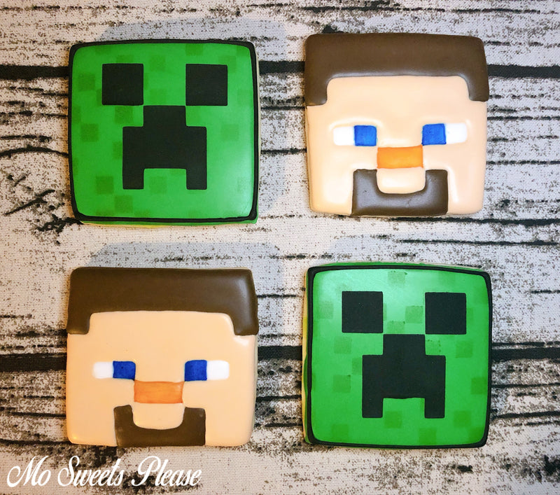 Decorated Sugar Cookie Minecraft Creeper Steve