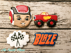 Decorated Sugar Cookie Blaze AJ Monster Truck