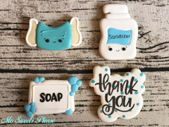 Pandemic / Quarantine  Cookies (Mask, Sanitizer, Soap, Thank You)