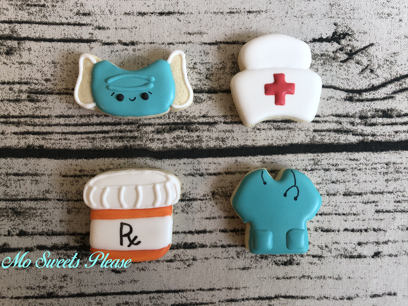 Mini Nurse Cookies Mask, Sanitizer, Soap, Pill Bottle