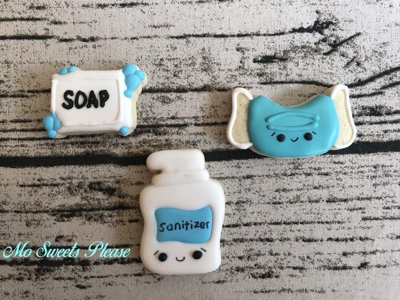 Mini Nurse Cookies Mask, Sanitizer, Soap
