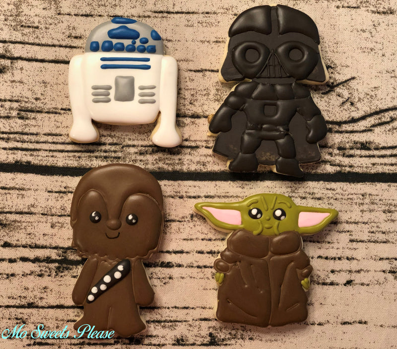 Star Wars Characters - Set of 4 Cookies