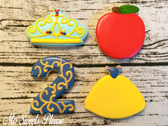 Decorated Sugar Cookie Snow White Theme