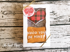 Decorated Sugar Cookie Valentine Buffalo Plaid Heart