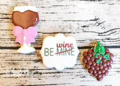 Decorated Sugar Cookie Be Wine Valentine