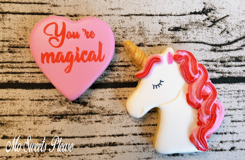 Decorated Sugar Cookie Valentine Unicorn