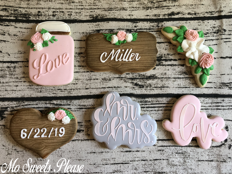 Rustic Wedding Decorated Sugar Cookies