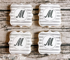 Decorated Sugar Cookie Monogram Personalized