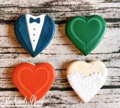 Decorated Sugar Cookies Wedding Anniversary