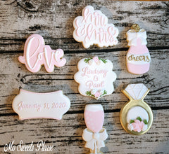 Decorated Sugar Cookie Wedding Champagne