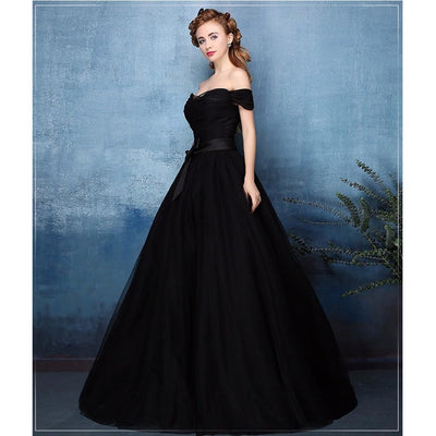 Black Off-Shoulder Gown