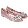 Crystal Pointed Toe Flats