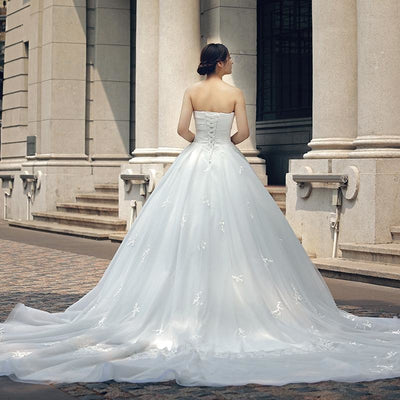 Sweetheart Strapless Gown with Train