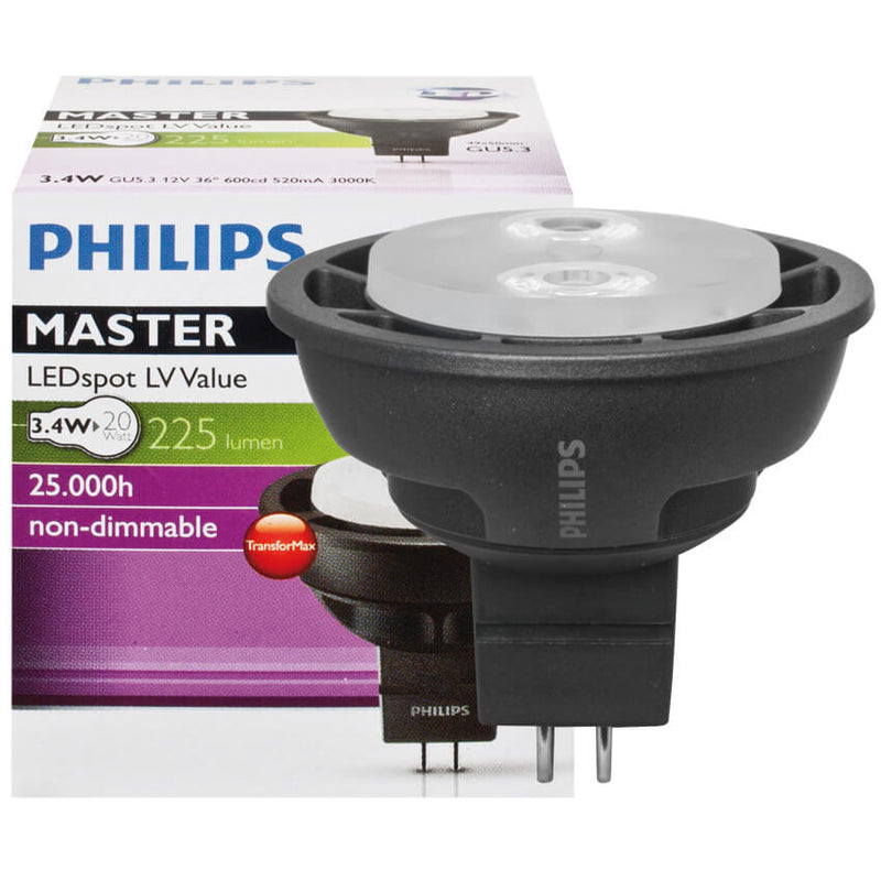 LED-Reflektorlampe MR16 MASTER LEDSPOT VALUE, GU5,3/12V/3,4W