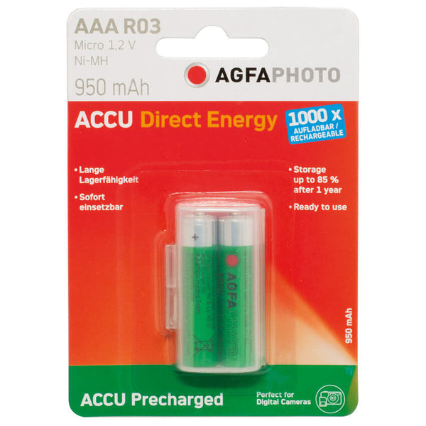 NiMh-Akku DIRECT ENERGY 2er Pack im Blister