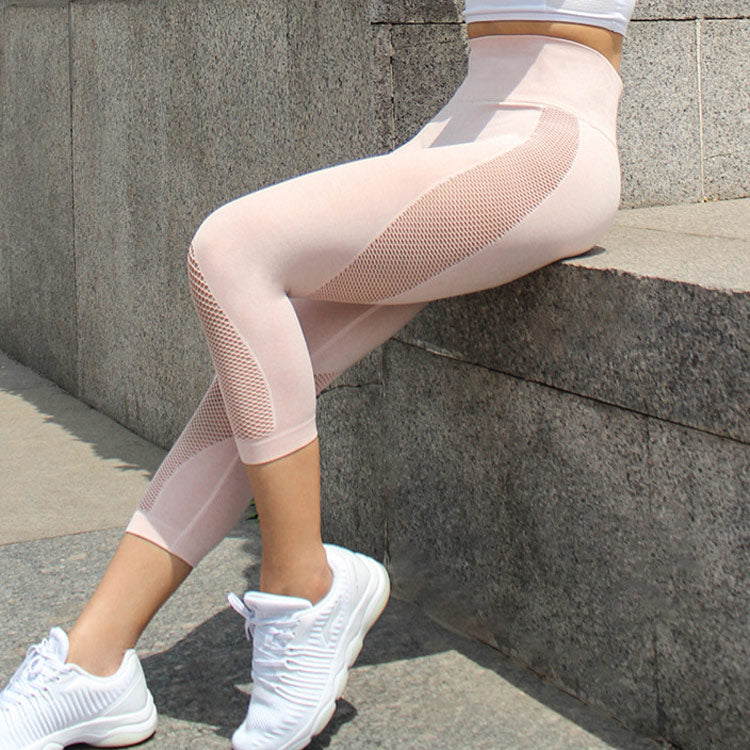 Mesh Althletic Calf Leggings - Rydess.com