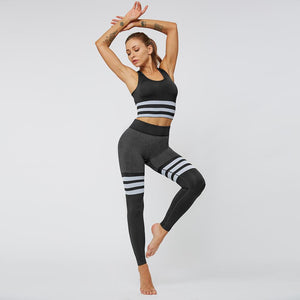 Striped Seamless  Sport Bra - Rydess.com
