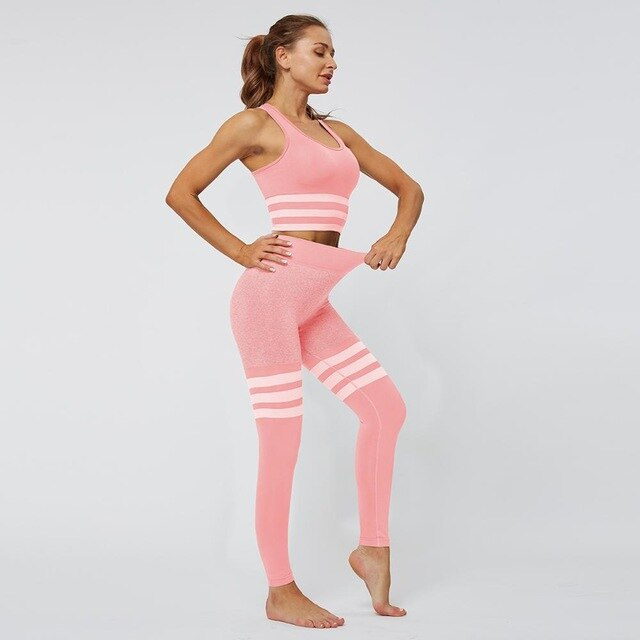 Striped Seamless  Leggings - Rydess.com