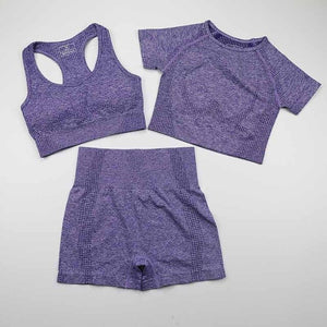 Vital Twist Seamless Shorts Sets( 3pcs) - Rydess.com
