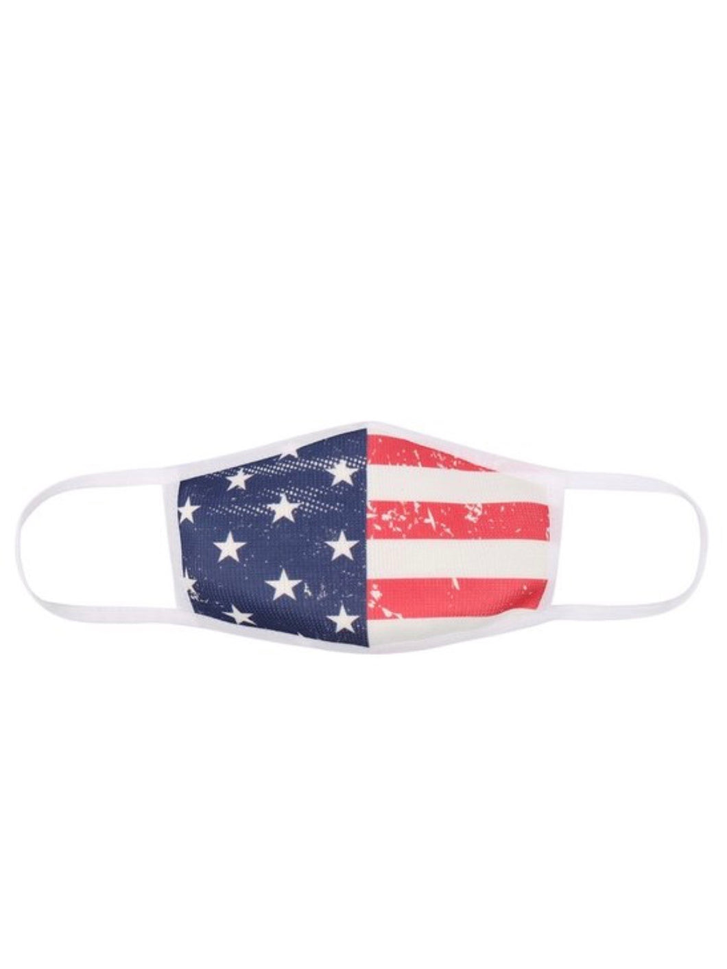 KIDS Reusable made in the USA Premium Weave Flag Face Mask
