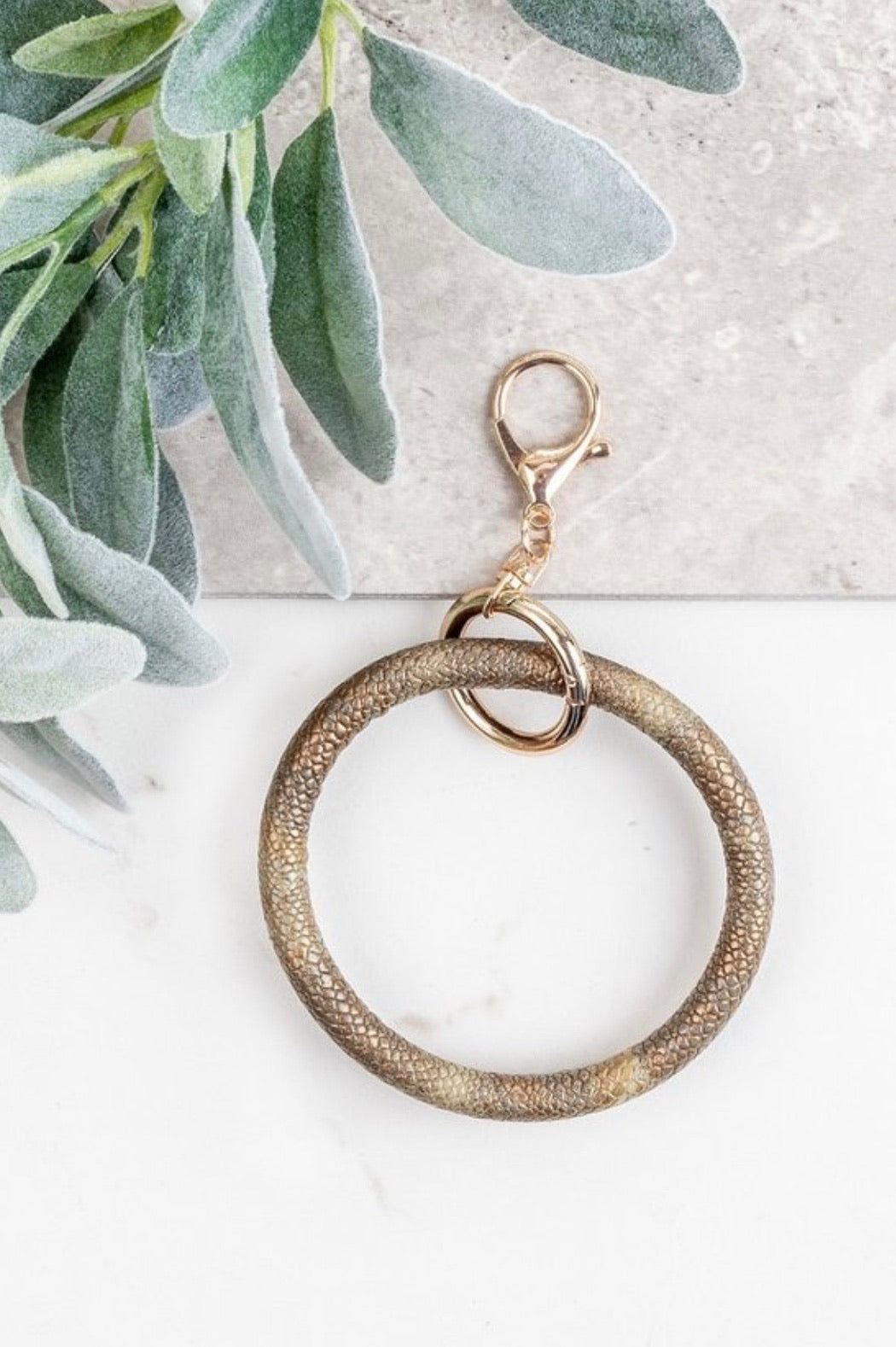 Snakeskin Key Ring Bangle