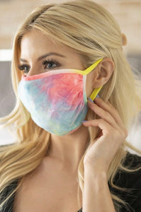 Reusable Neon Tie-Dye Face Mask
