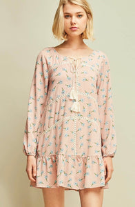 Lillian Floral Drop Waist Dress