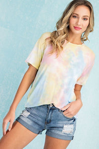 Eva Tie Dye T-Shirt in Cotton Candy Pastels