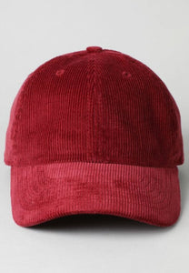 Home for the holiday ball cap in corduroy