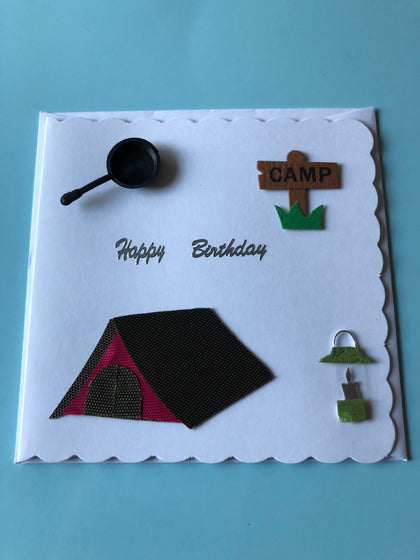 Men's camping birthday card