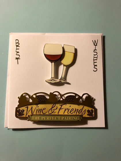 Men's wine glasses birthday card