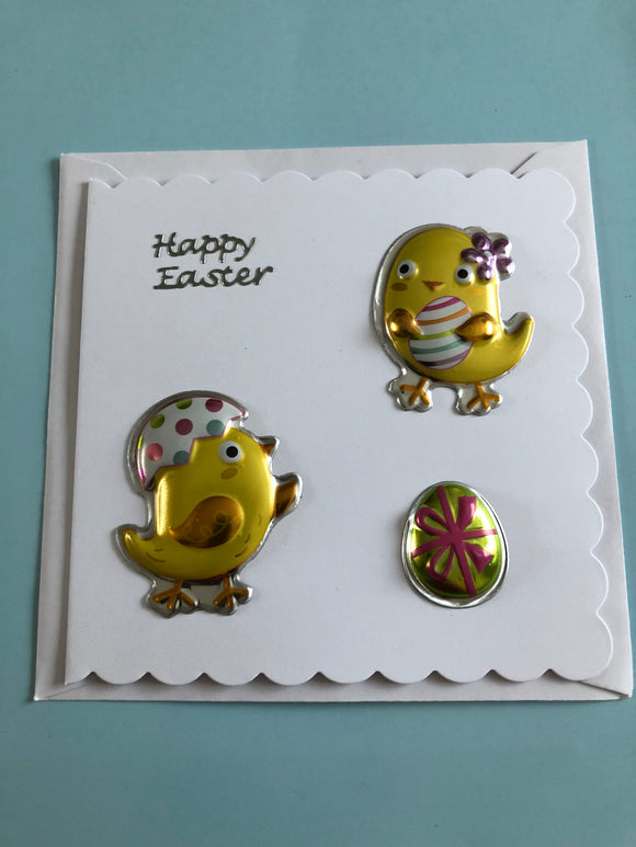 Easter chicks card