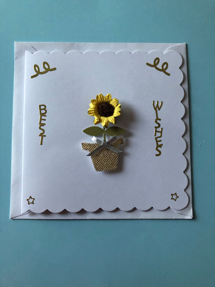 Sunflower themed birthday card