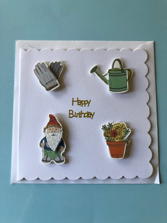 Men's gardening birthday card