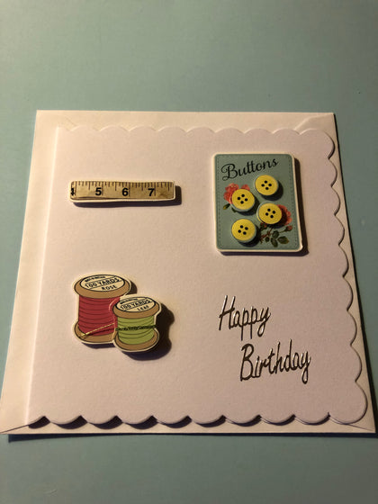 Sewing essentials birthday card