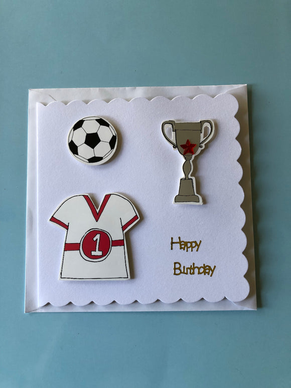Men's football birthday card