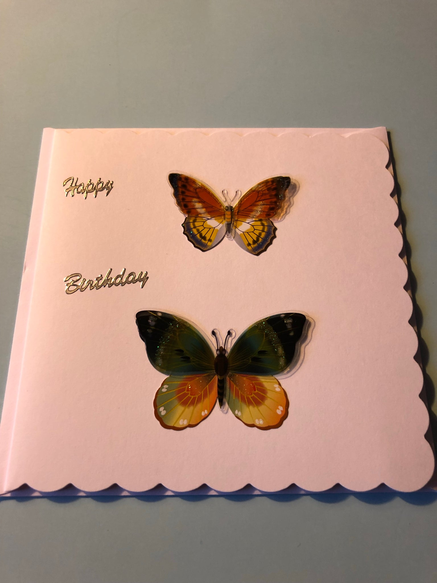 Women's Birthday butterfly card